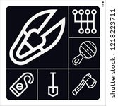 set of 6 handle outline icons... | Shutterstock .eps vector #1218223711