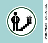 man gift icon.delivery service... | Shutterstock . vector #1218223837