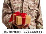 christmas and army. young... | Shutterstock . vector #1218230551