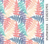 fern frond herbs  tropical... | Shutterstock .eps vector #1218231901