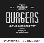 burgers true barbeque white on... | Shutterstock .eps vector #1218233584