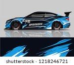 car decal wrap design vector. ... | Shutterstock .eps vector #1218246721