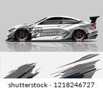 car decal wrap design vector. ...   Shutterstock .eps vector #1218246727