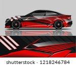 car decal wrap design vector.... | Shutterstock .eps vector #1218246784
