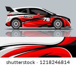 car decal wrap design vector.... | Shutterstock .eps vector #1218246814