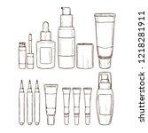 set of lipsticks and lip glosses | Shutterstock .eps vector #1218281911