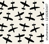 vector seamless pattern with... | Shutterstock .eps vector #1218282607