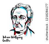 johann wolfgang von goethe... | Shutterstock .eps vector #1218286177