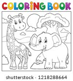 coloring book african nature... | Shutterstock .eps vector #1218288664