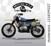 vintage motocross poster | Shutterstock .eps vector #1218299227