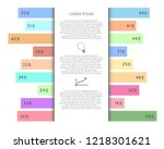 infographic statistics with...