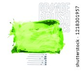 green brush stroke and texture. ...   Shutterstock .eps vector #1218301957