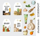 spa template in sketch style.... | Shutterstock .eps vector #1218304147