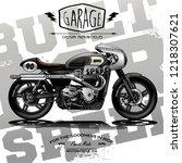 vintage custom cafe racer poster | Shutterstock .eps vector #1218307621