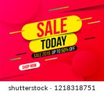 abstract sale banner in bright... | Shutterstock .eps vector #1218318751