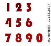 polygonal numerals. creative...   Shutterstock .eps vector #1218318877