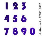 polygonal numerals. creative...   Shutterstock .eps vector #1218319807