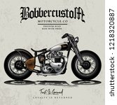 classic chopper motorcycle... | Shutterstock .eps vector #1218320887