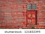 Door Of Old Barn With Copy Space