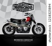 vintage motocross illustration   Shutterstock .eps vector #1218325894