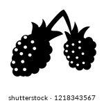 raspberries icon vector... | Shutterstock .eps vector #1218343567