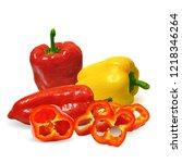 fresh  nutritious  tasty... | Shutterstock .eps vector #1218346264