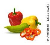 fresh  nutritious  tasty... | Shutterstock .eps vector #1218346267