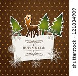 vintage holiday background with ... | Shutterstock .eps vector #121834909