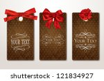 set of vintage gift cards with... | Shutterstock .eps vector #121834927