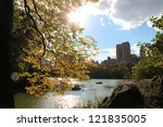 central park in the fall  ... | Shutterstock . vector #121835005