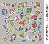 vector illustration of sport... | Shutterstock .eps vector #1218350824
