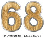 numeral 68  sixty eight ... | Shutterstock . vector #1218356737