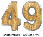 numeral 49  forty nine ...   Shutterstock . vector #1218356791