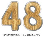 numeral 48  forty eight ...   Shutterstock . vector #1218356797