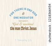biblical scripture verse from 1 ... | Shutterstock .eps vector #1218366454