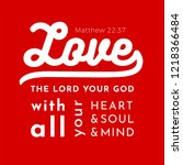 biblical scripture verse from... | Shutterstock .eps vector #1218366484
