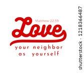 biblical scripture verse from... | Shutterstock .eps vector #1218366487
