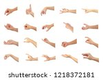 right hand collection multiple... | Shutterstock . vector #1218372181