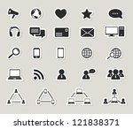 social media and computer... | Shutterstock .eps vector #121838371