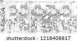 sketch of industrial equipment. ...   Shutterstock .eps vector #1218408817