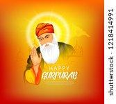illustration of happy gurpurab  ... | Shutterstock .eps vector #1218414991
