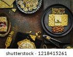 varieties of traditional... | Shutterstock . vector #1218415261