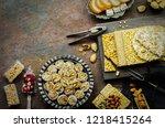 varieties of traditional... | Shutterstock . vector #1218415264