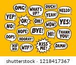 set of comic speech bubbles....   Shutterstock .eps vector #1218417367
