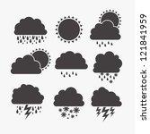 illustration of icons sun icons ...