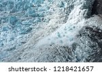 small avalanche on the franz... | Shutterstock . vector #1218421657