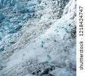 avalanche on the franz josef... | Shutterstock . vector #1218424747