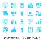 blogging silhouette icons set....   Shutterstock .eps vector #1218440374