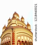 image of the distinctive vimana ... | Shutterstock . vector #1218460021