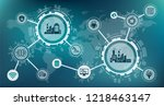 industrial internet of things   ... | Shutterstock .eps vector #1218463147
